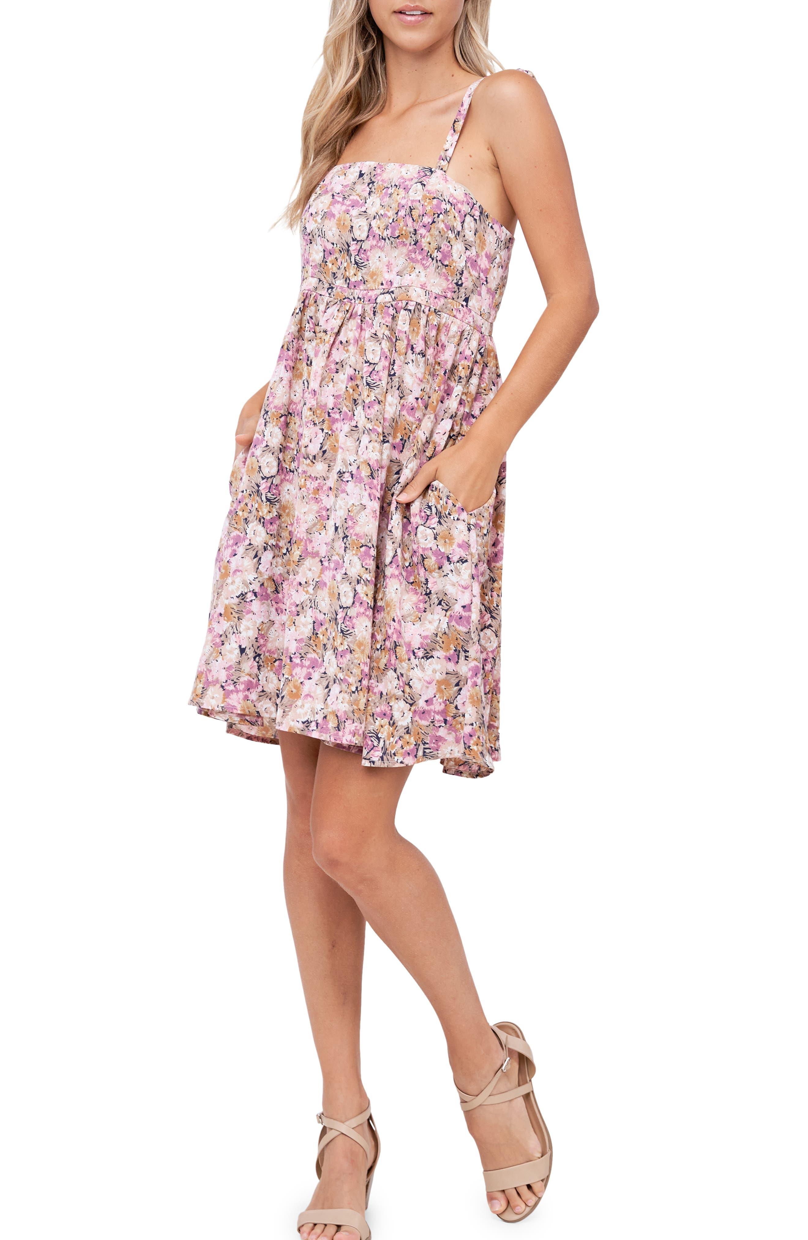 Floral Print Sleeveless Sundress