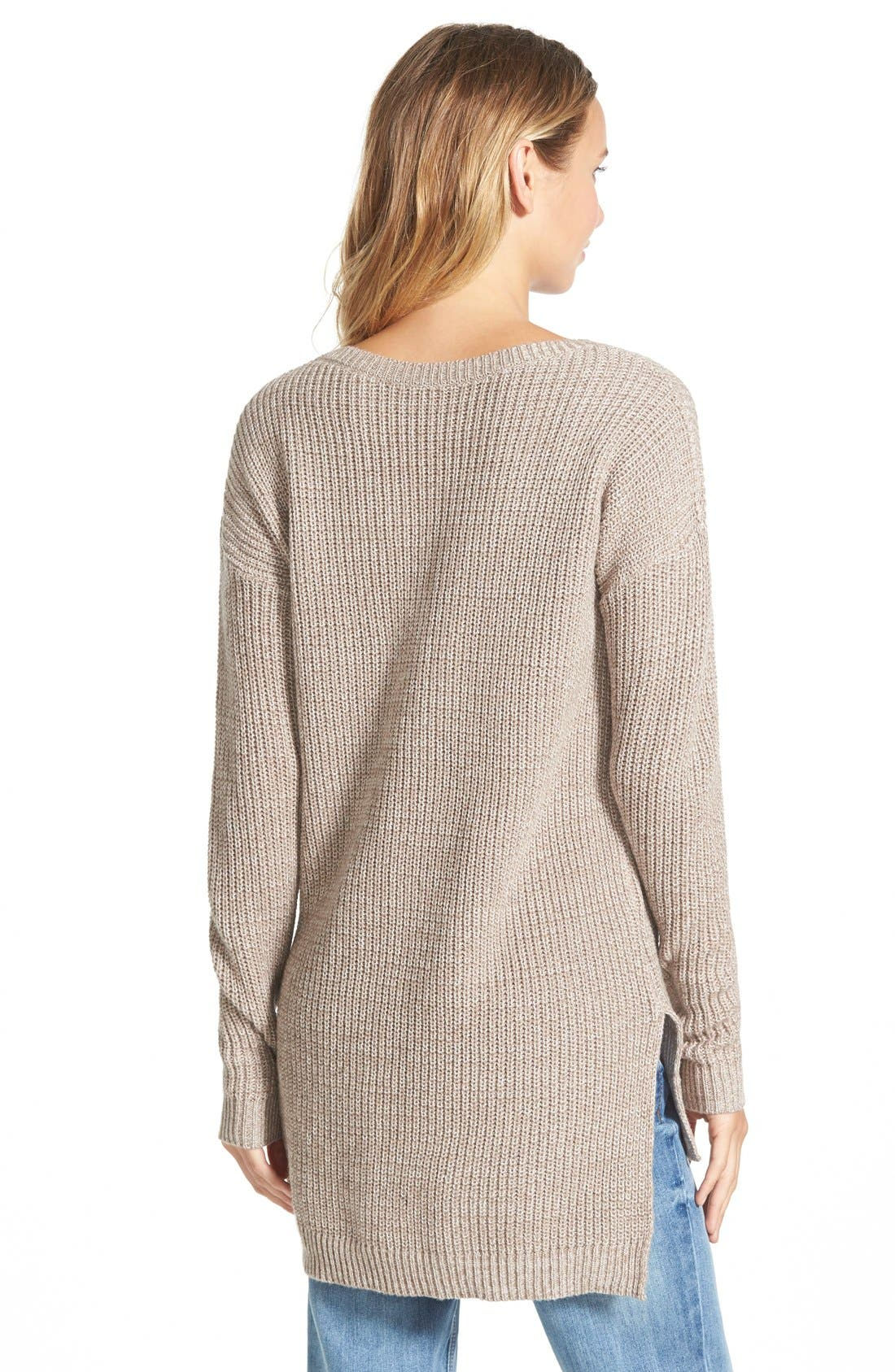 ,                             Textured Knit Pullover,                             Alternate thumbnail 5, color,                             030