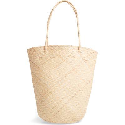 Street Level Rattan Bucket Bag - Ivory