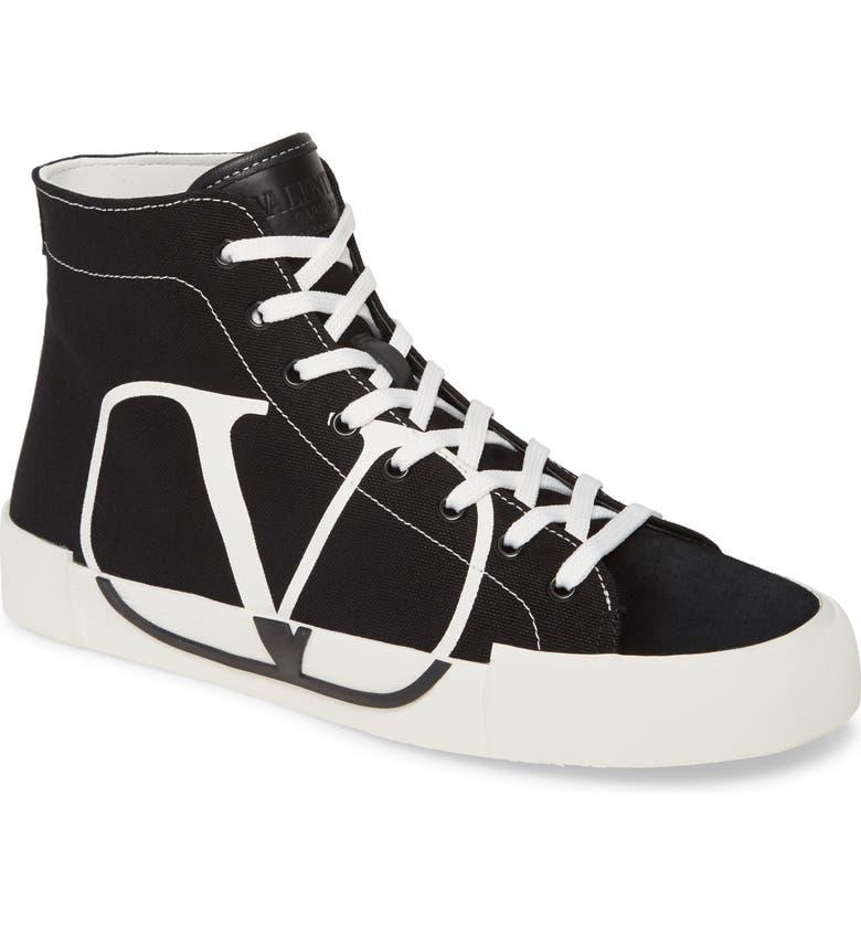 VALENTINO GARAVANI Go Logo Sneaker, Main, color, BLACK/ WHITE