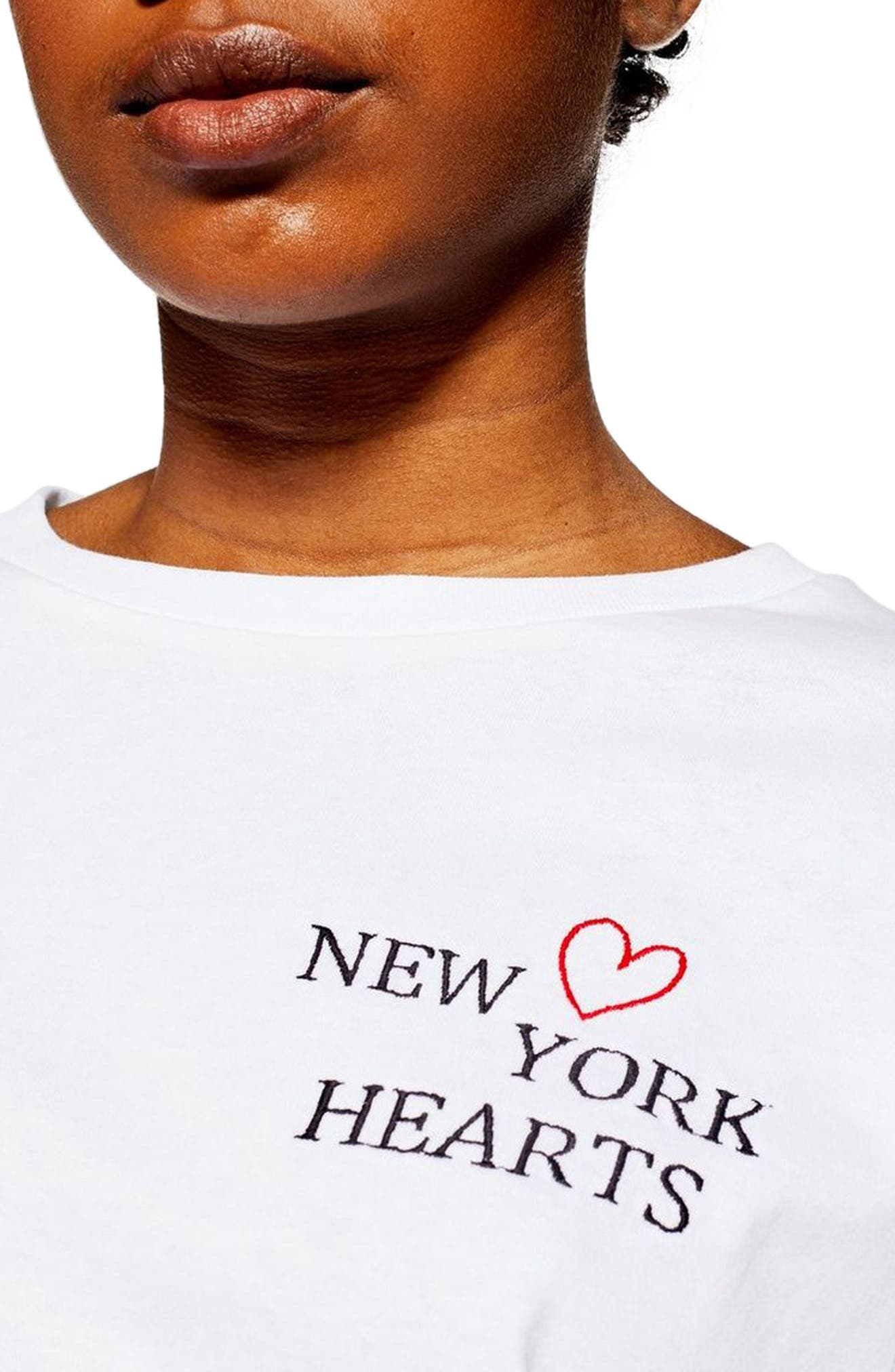 ,                             New York Hearts Short Pajamas,                             Alternate thumbnail 3, color,                             WHITE MULTI