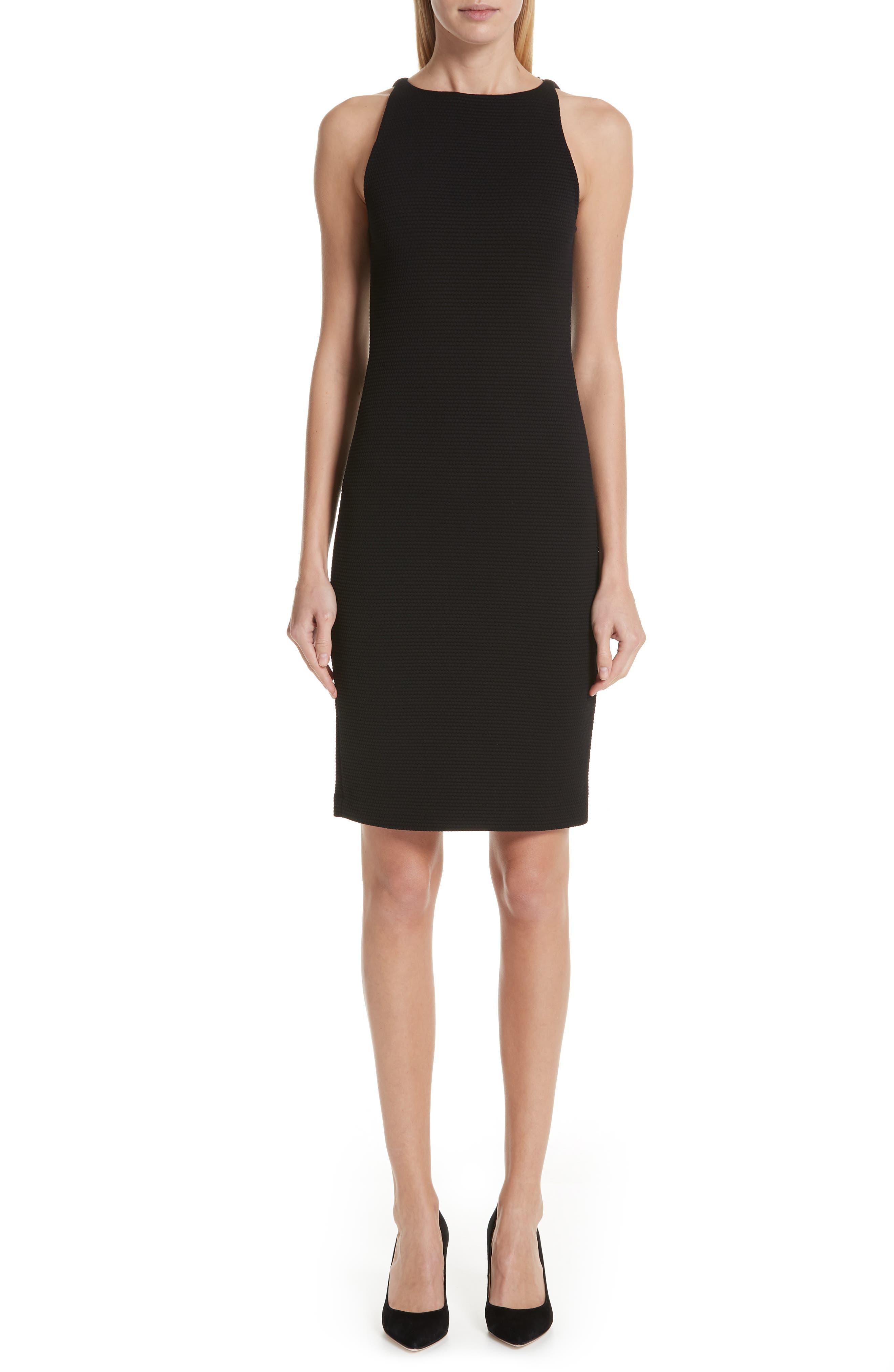 Emporio Armani Sleeveless Sheath Dress, 50 IT - Black