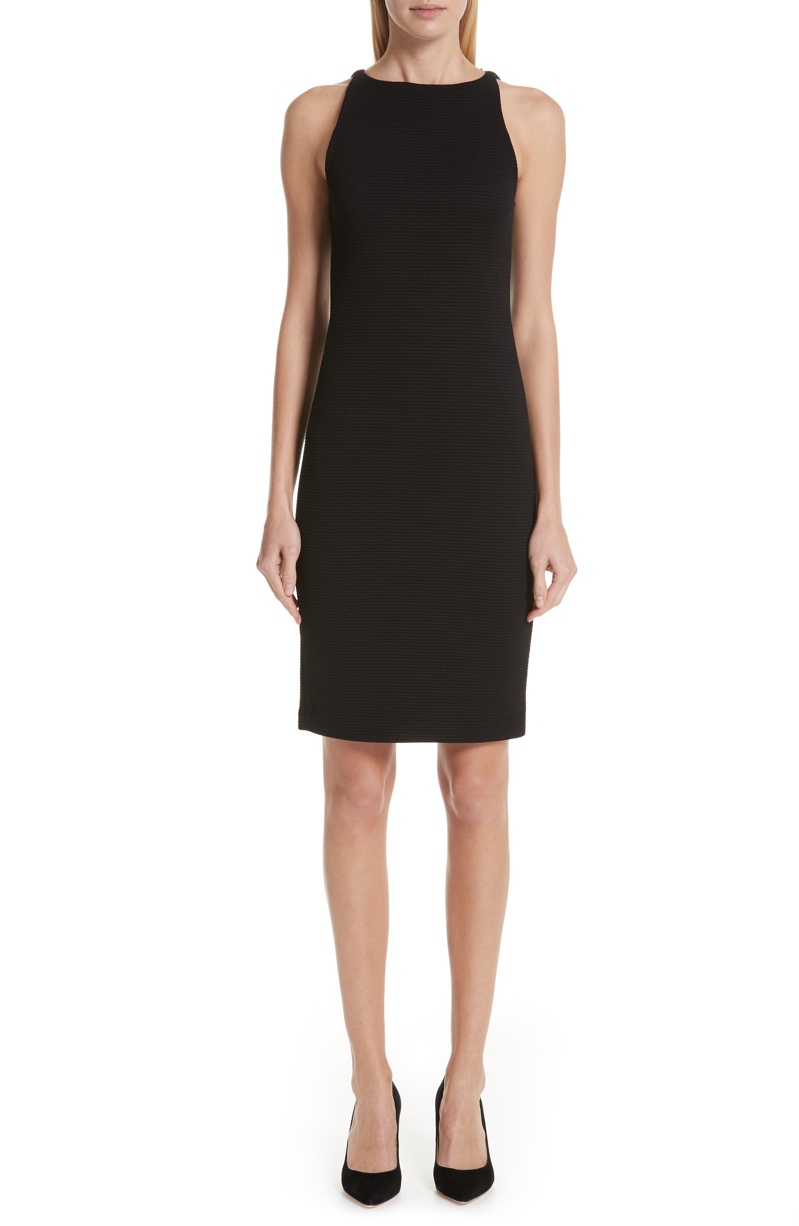 ,                             Sleeveless Sheath Dress,                             Main thumbnail 1, color,                             001