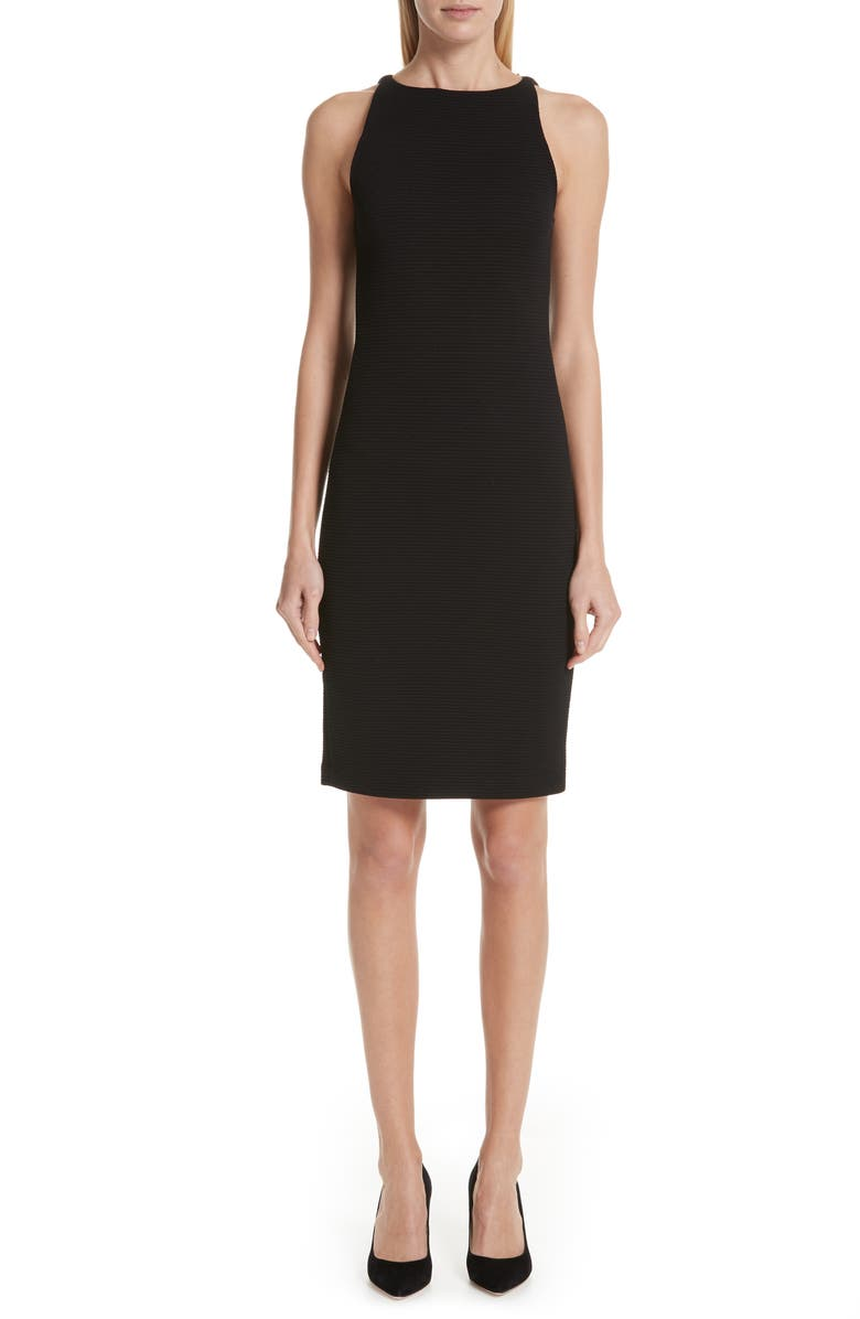 EMPORIO ARMANI Sleeveless Sheath Dress, Main, color, 001
