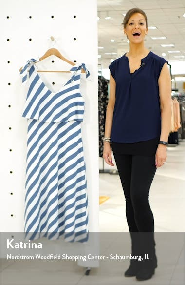 Lisette Tie Strap Ruffle Midi Dress, sales video thumbnail