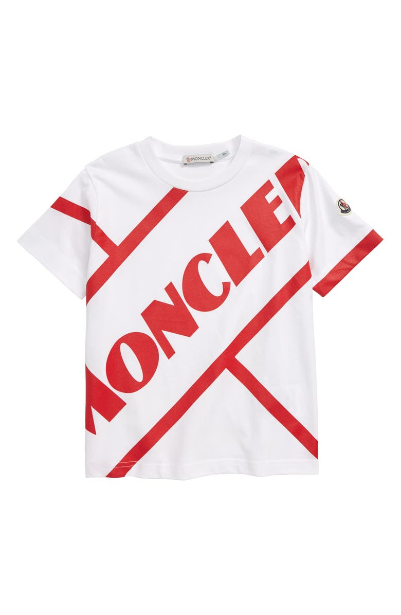 MONCLER Graphic T-Shirt, Main, color, WHITE