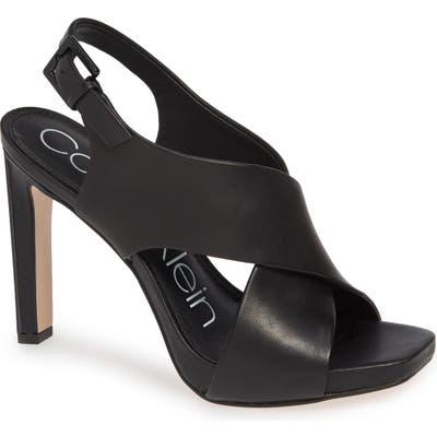 Calvin Klein Myra Cross Strap Sandal
