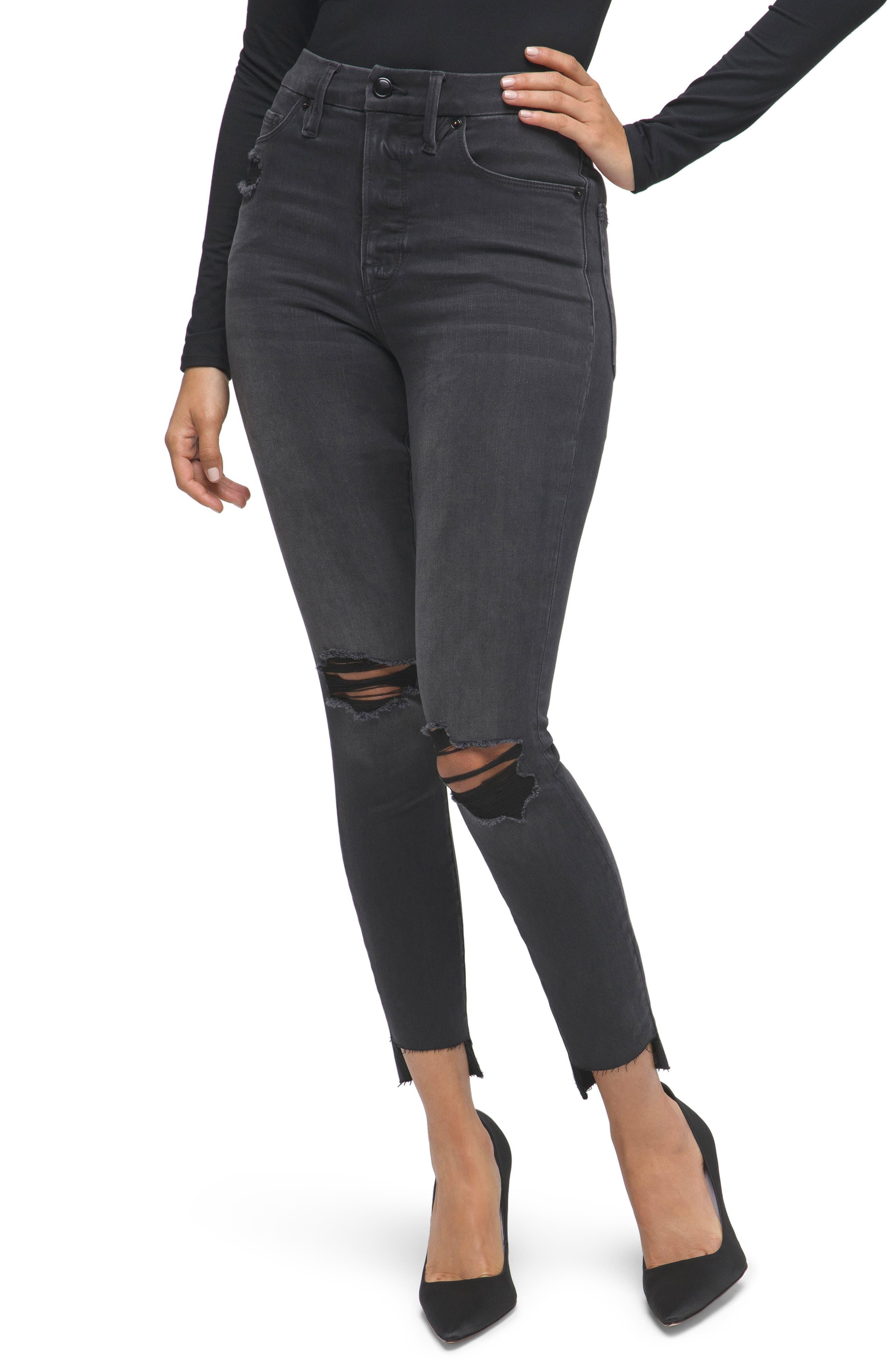 Women's Good American Good High Waist Crop Skinny Jeans