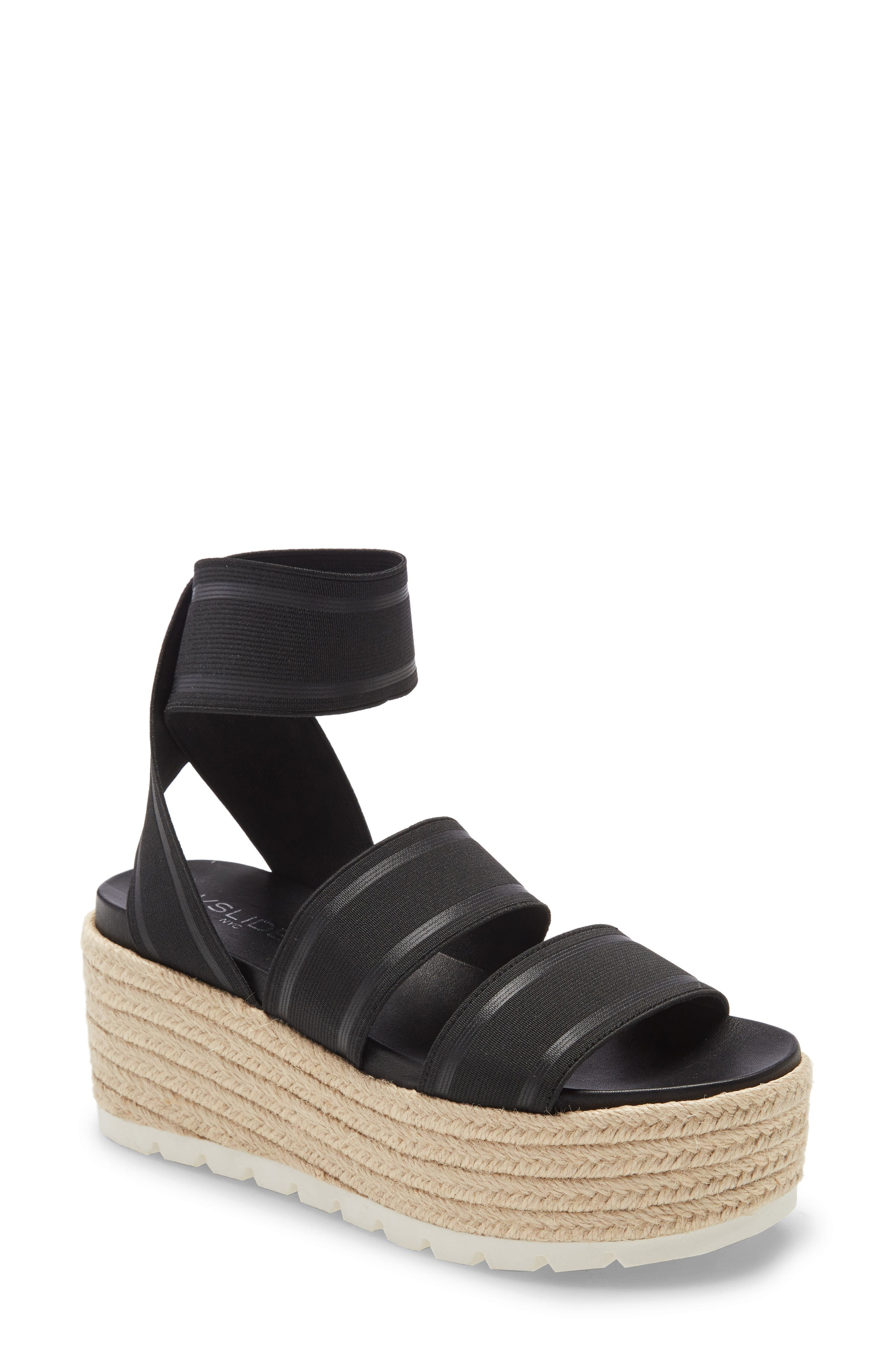 Ropy espadrille-style trim wraps the superchunky platform of an elastic-strap sandal grounded by a sporty rubber sole. Style Name: Jslides Quartz Platform Sandal (Women). Style Number: 6015381 1. Available in stores.