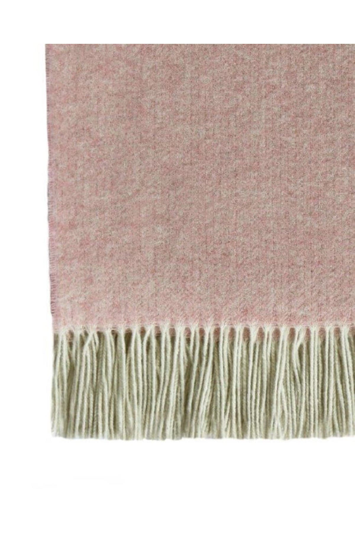 Image of Melange Home Italian Wool Blend Throw - Pink