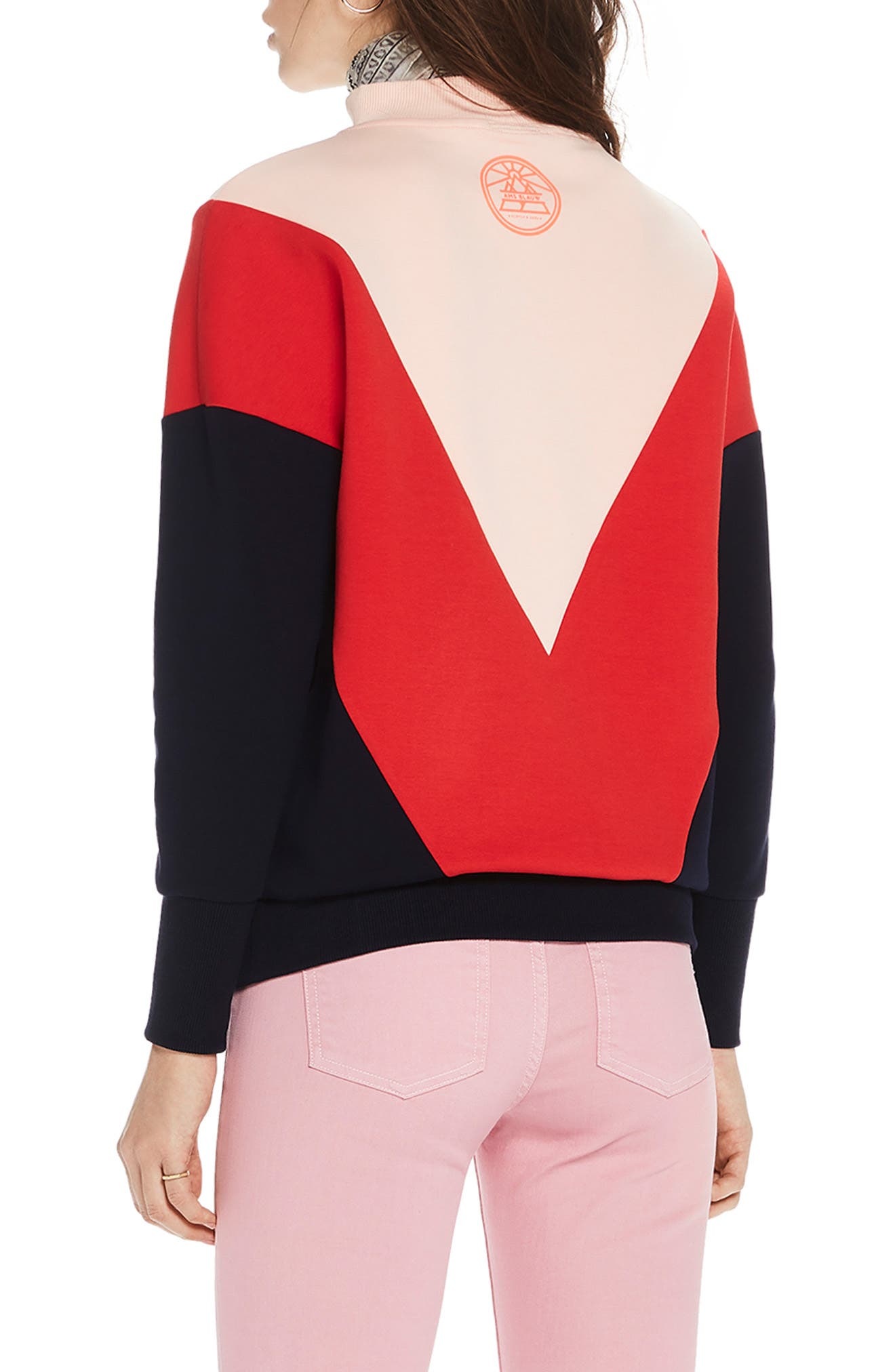 ,                             Colorblock Sweatshirt,                             Alternate thumbnail 2, color,                             650