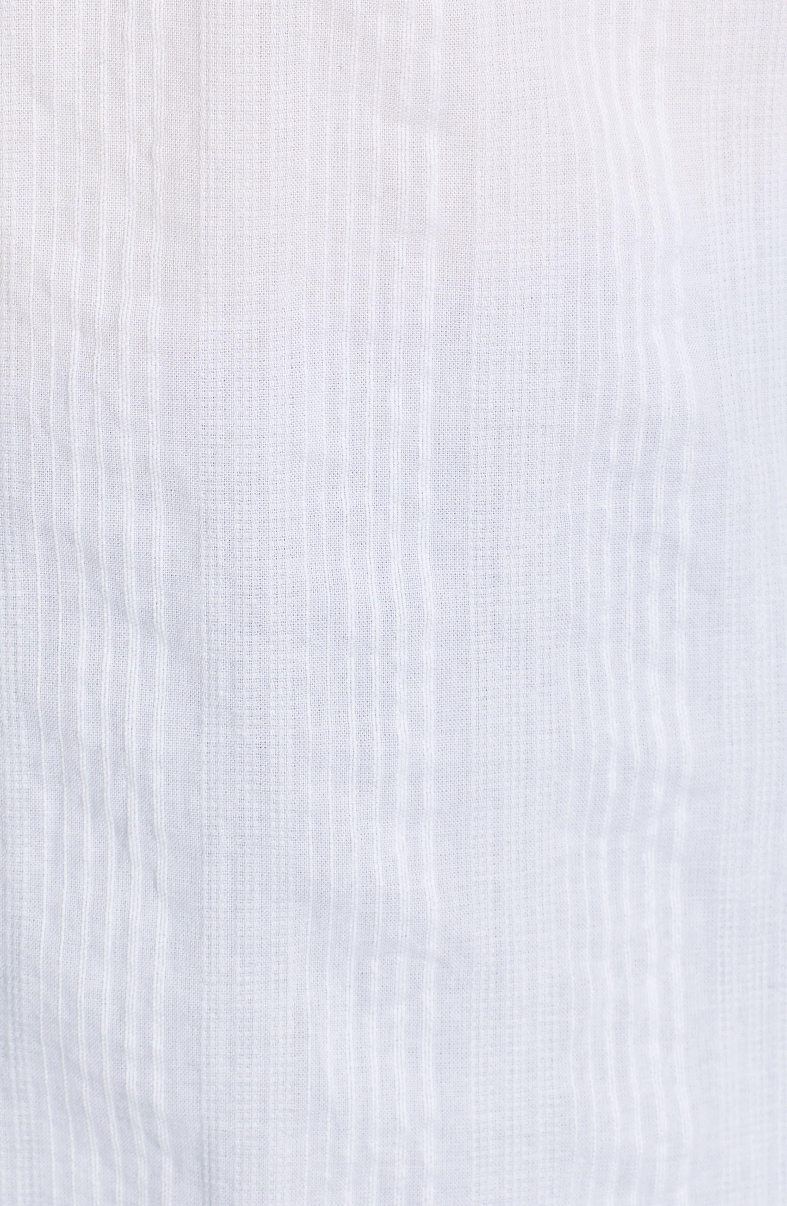 ,                             Stripe Shirt,                             Alternate thumbnail 5, color,                             WHITE SHALLIS STRIPE
