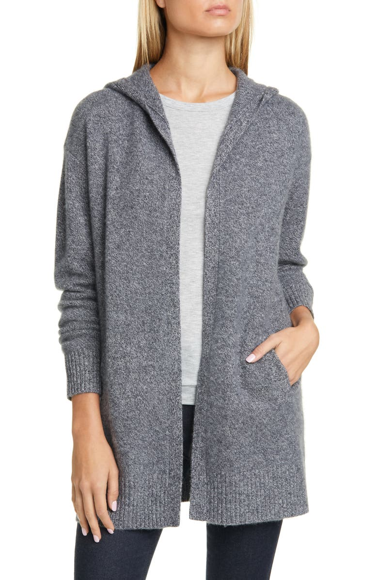 NORDSTROM SIGNATURE Hooded Boiled Cashmere Cardigan, Main, color, 021