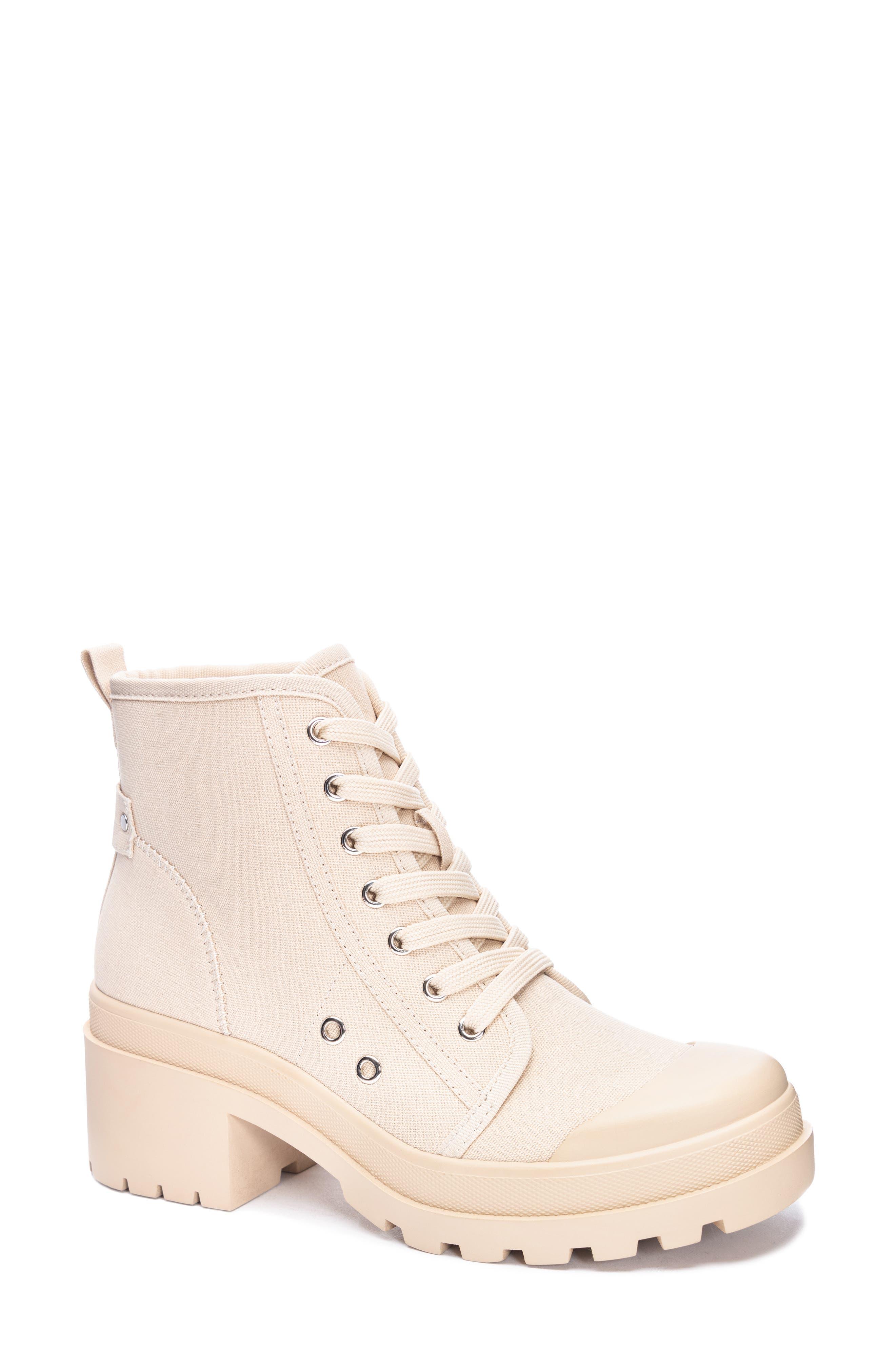 Bunny Canvas Combat Boot