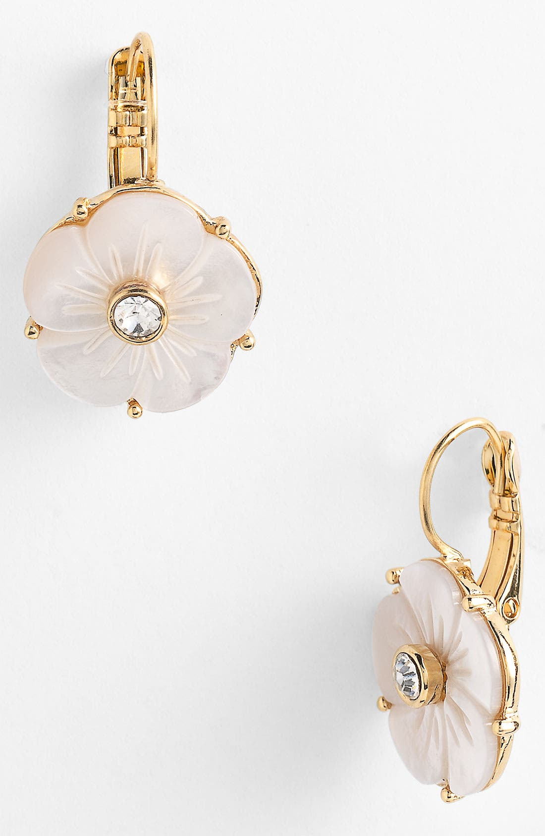 'crystal corsage' drop earrings, Main, color, 900