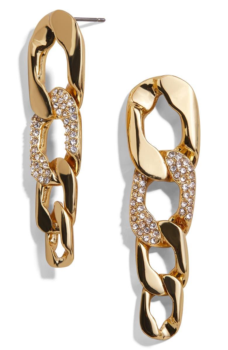 BAUBLEBAR Chain Link Drop Earrings, Main, color, GOLD