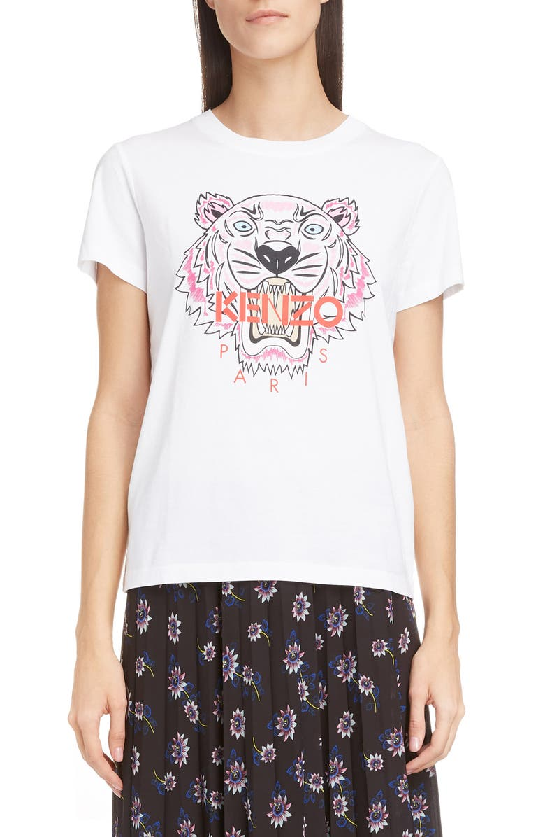 KENZO Classic Tiger Graphic Tee, Main, color, WHITE