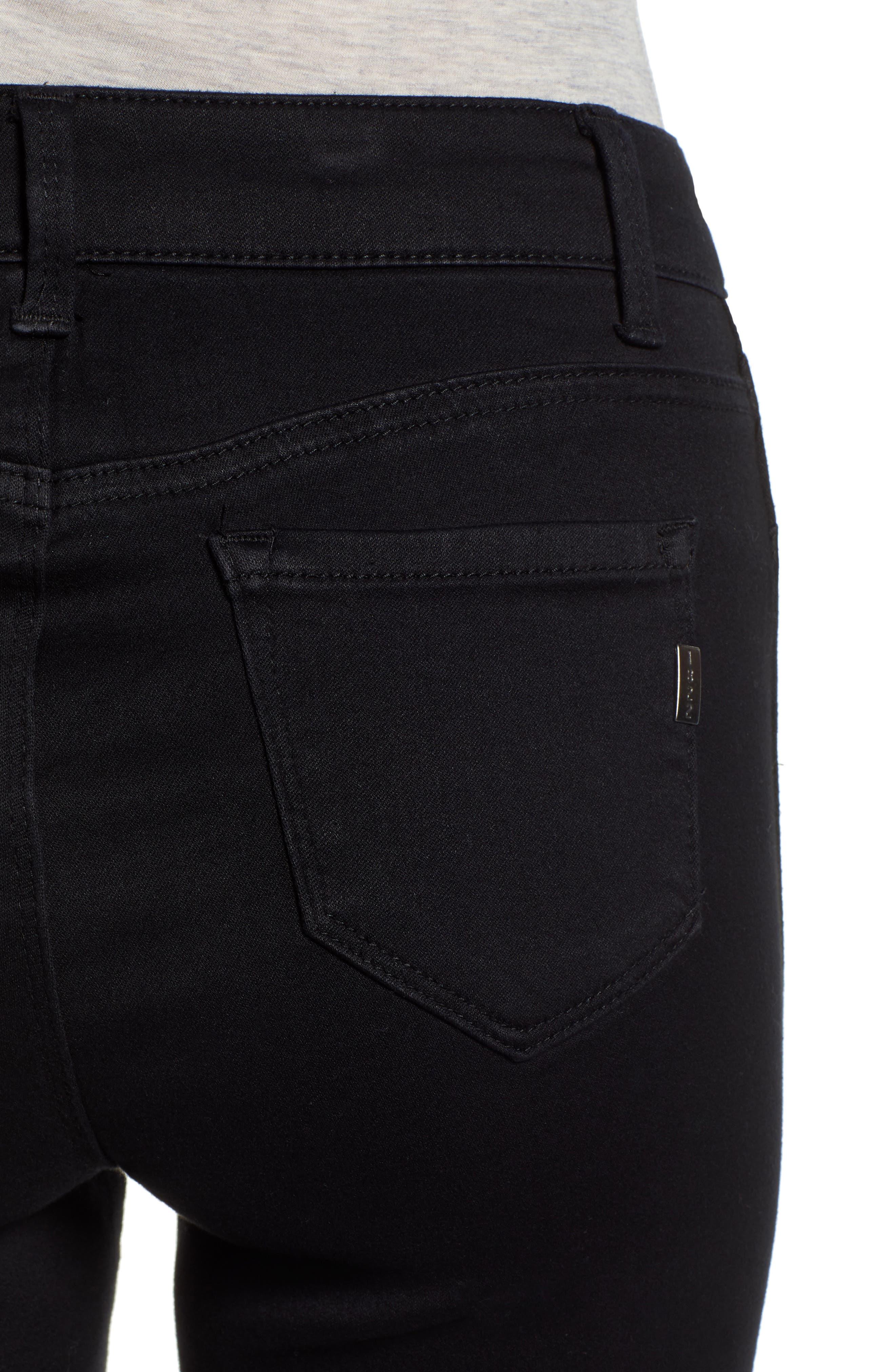 ,                             Butter High Waist Skinny Jeans,                             Alternate thumbnail 5, color,                             BLACK