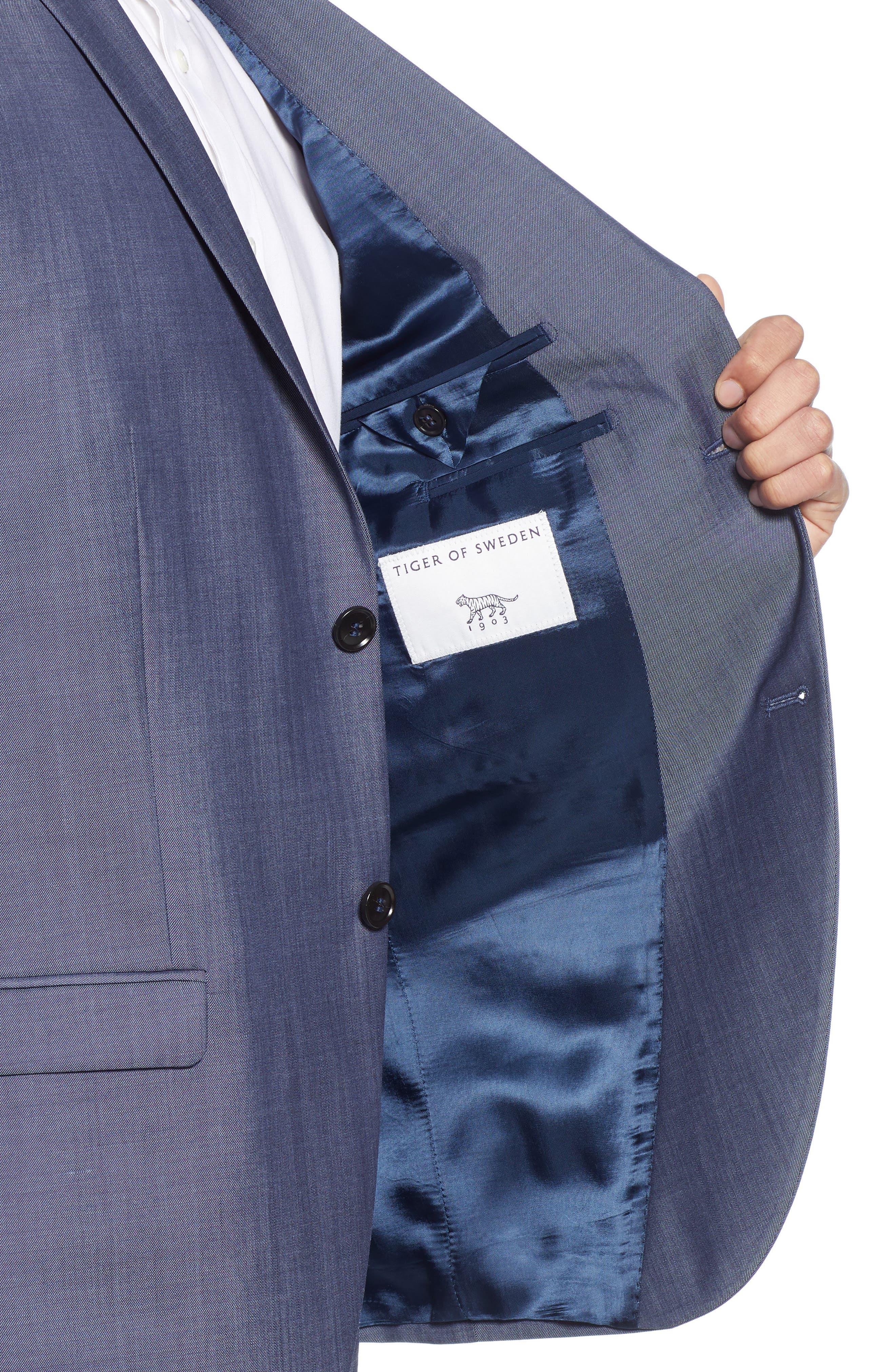 ,                             Jile Trim Fit Solid Wool Blazer,                             Alternate thumbnail 5, color,                             SOFT BLUE