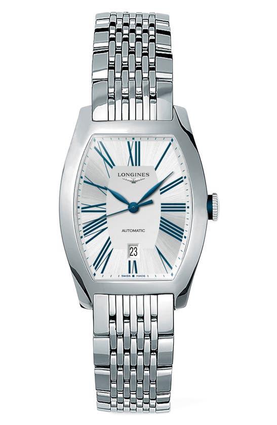 Longines Evidenza Automatic Bracelet Watch, 26mm X 30.6mm In Metallic