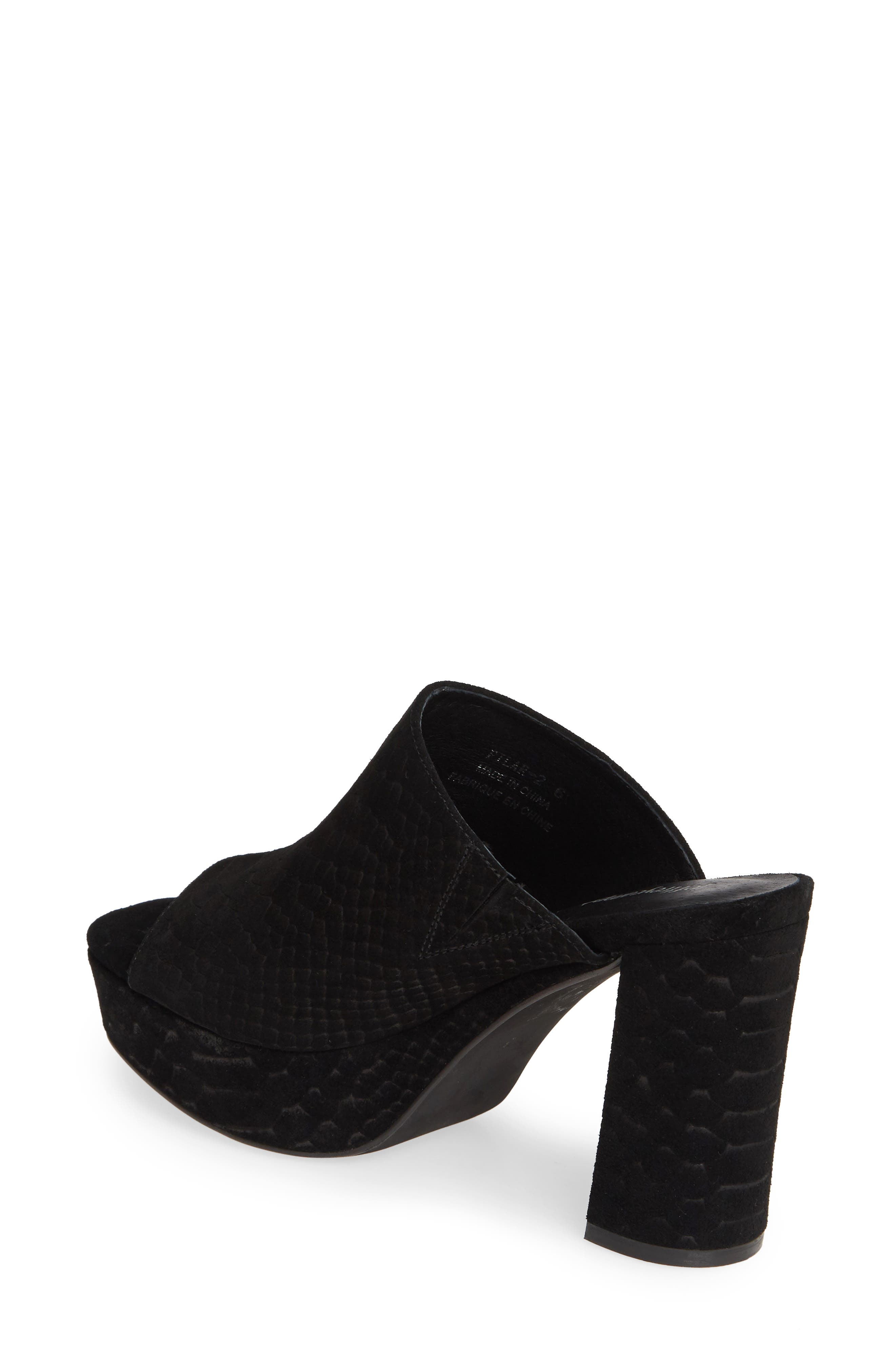 ,                             Pilar 2 Platform Slide Sandal,                             Alternate thumbnail 2, color,                             BLACK MATTE SNAKE PRINT
