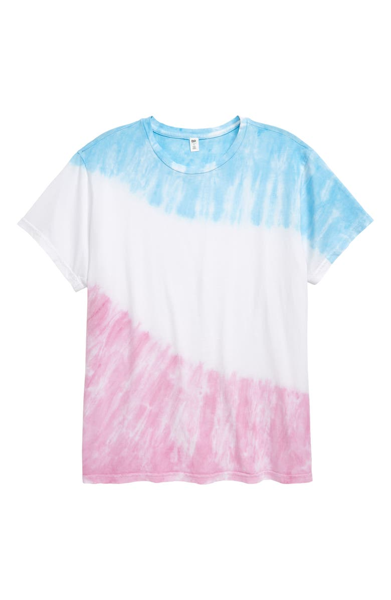 BP. Be Proud by BP. Gender Inclusive Tie Dye T-Shirt, Main, color, PINK- BLUE SKY TIE DYE