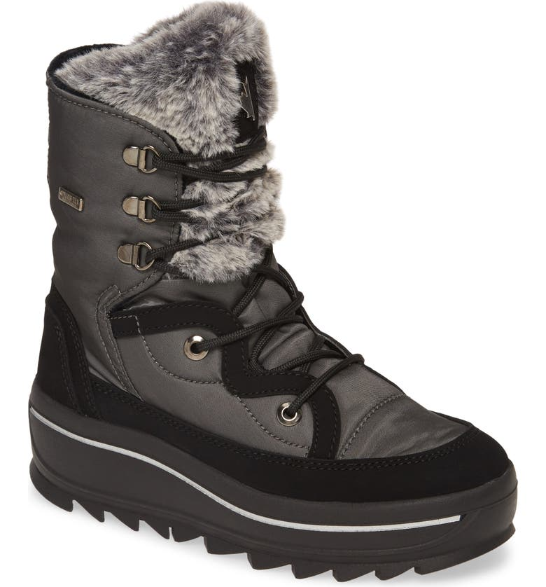PAJAR Tacey 2.0 Waterproof Boot with Faux Fur Lining, Main, color, ANTHRACITE