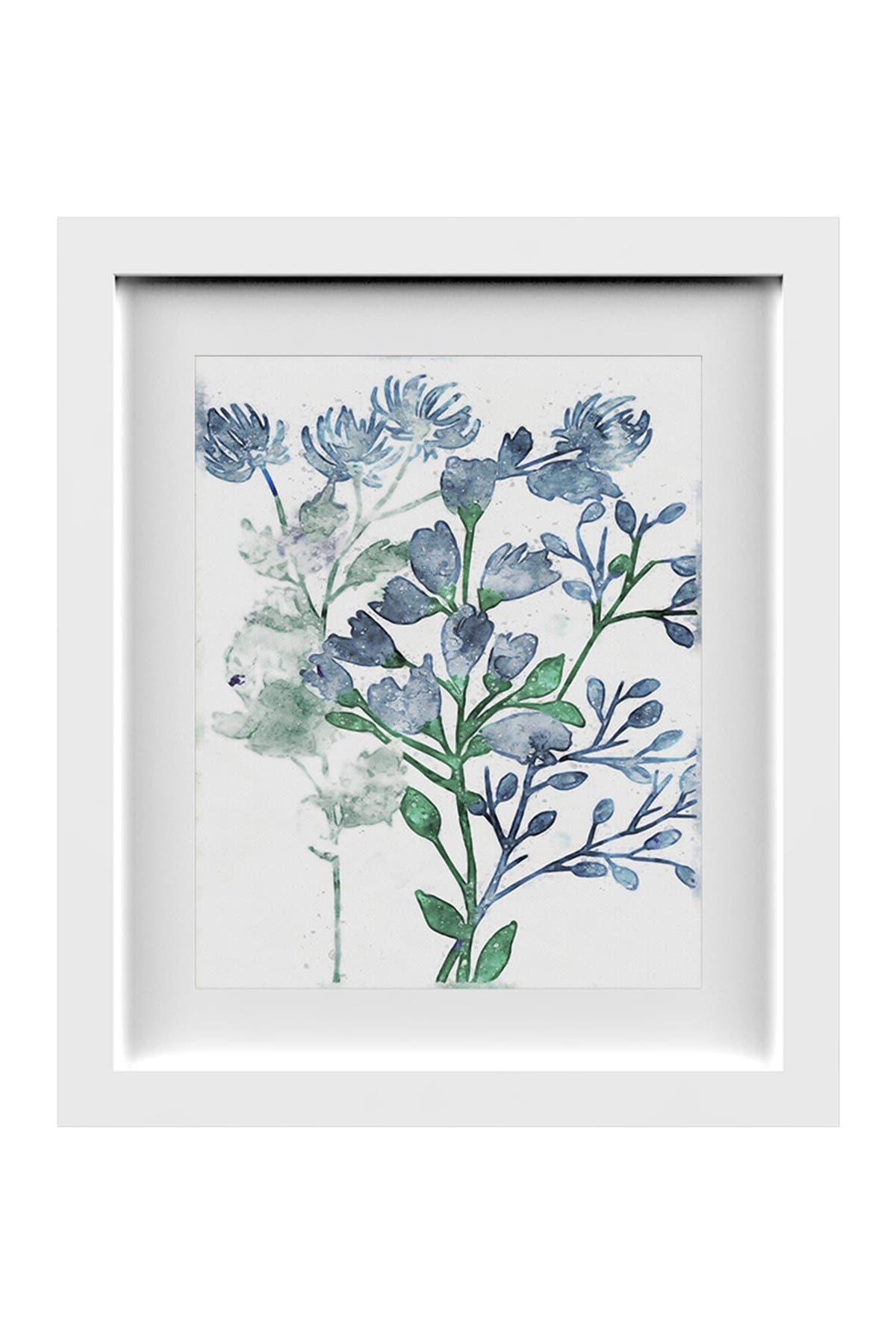 PTM Images Blue Floral I Framed & Matted Giclee