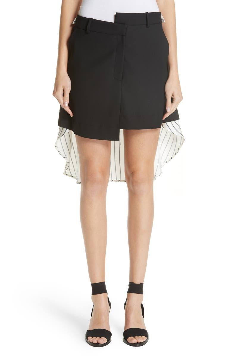 MONSE Pinstripe Back Skirt, Main, color, 001