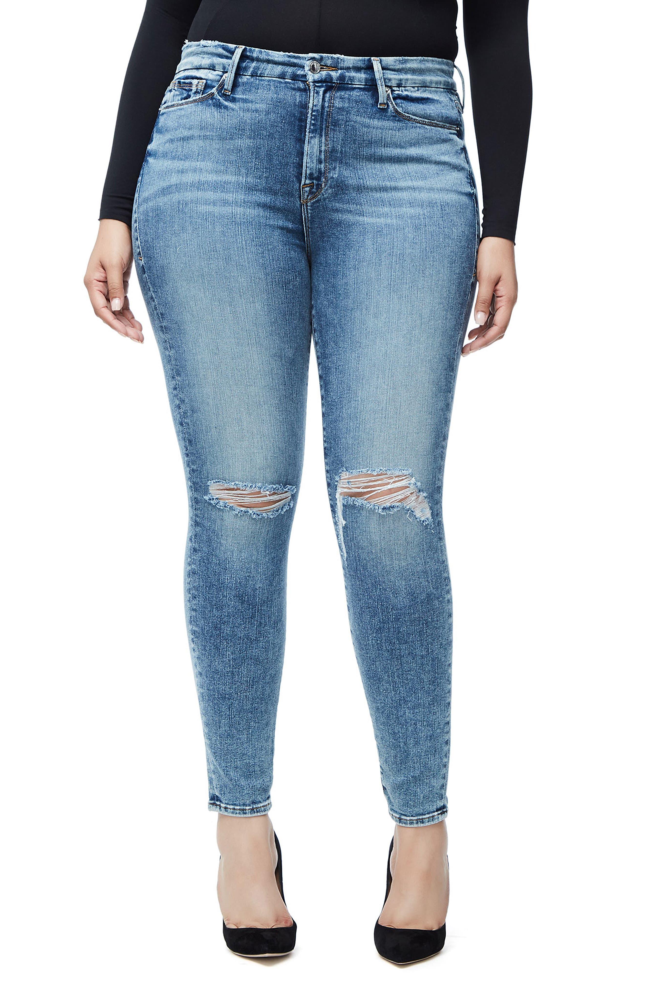 ,                             Good Legs High Waist Skinny Jeans,                             Alternate thumbnail 4, color,                             401