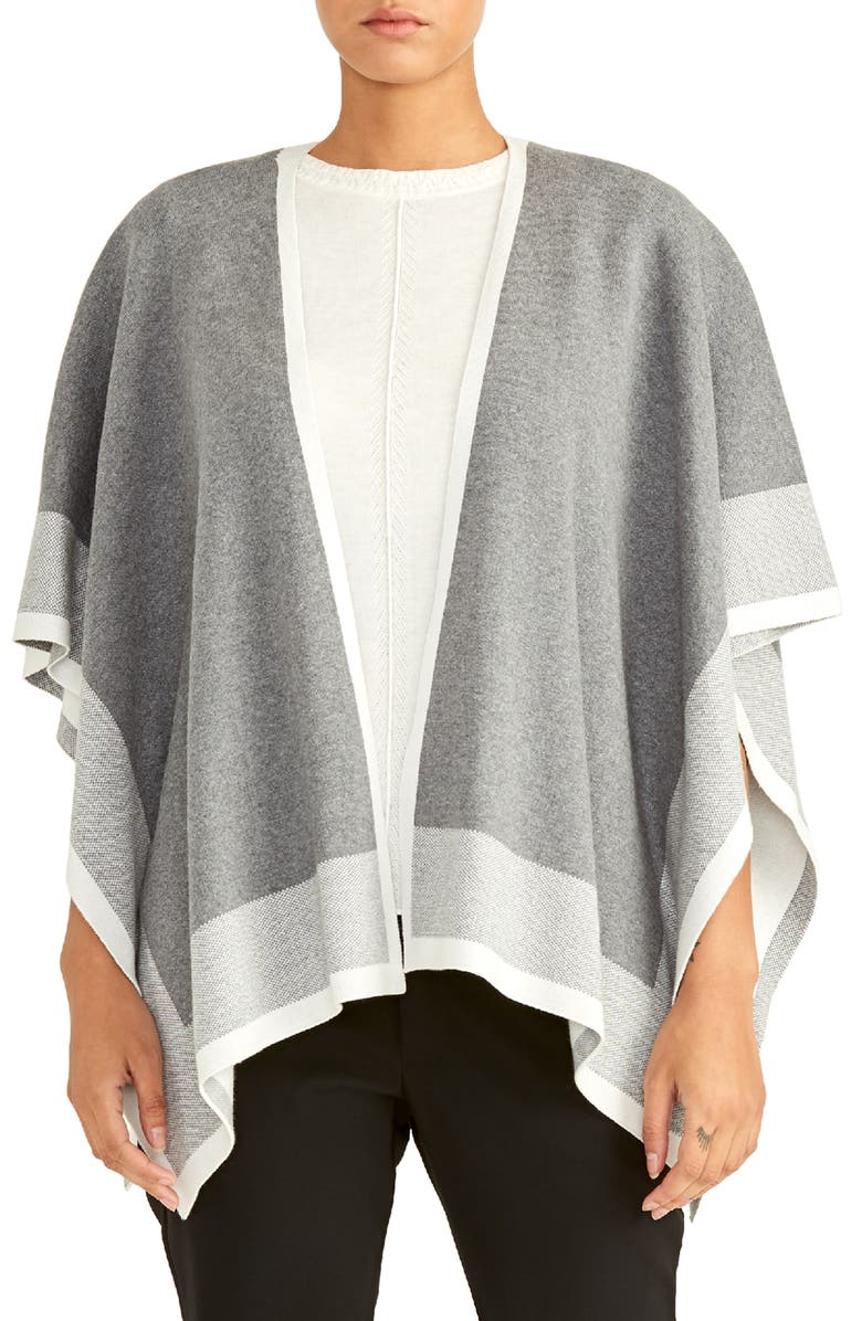 RACHEL ROY COLLECTION Poncho Cardigan, Main, color, GREY COMBO