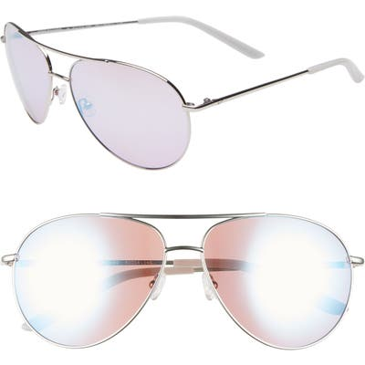 Nike Chance 61Mm Mirrored Aviator Sunglasses - Silver/ Violet Gradient