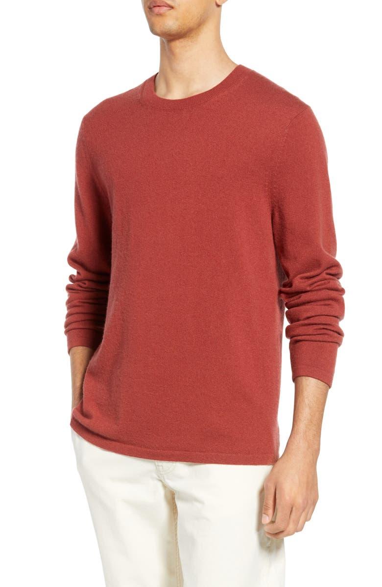 VINCE Cashmere Crewneck Sweater, Main, color, SEQUOIA