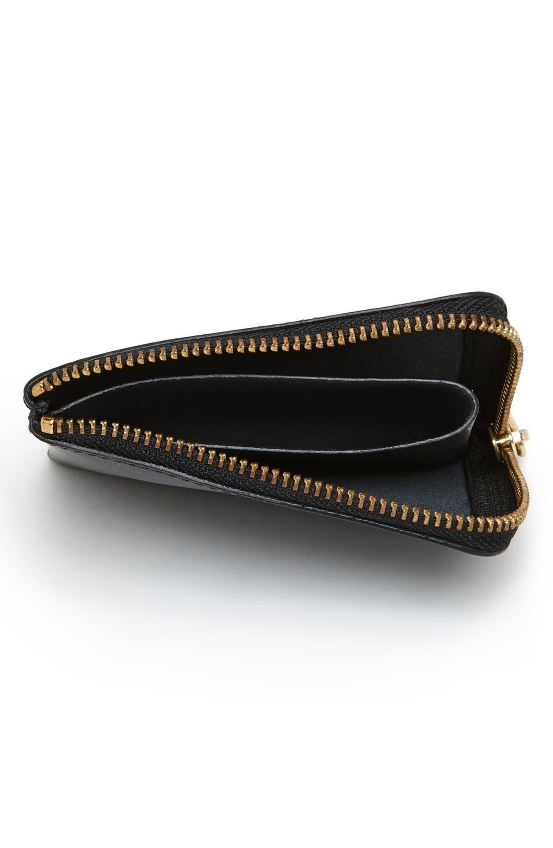 ,                             Half-Zip Leather Wallet,                             Alternate thumbnail 5, color,                             001