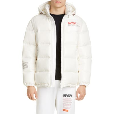 Heron Preston Nasa Hooded Nylon Space Jacket, White