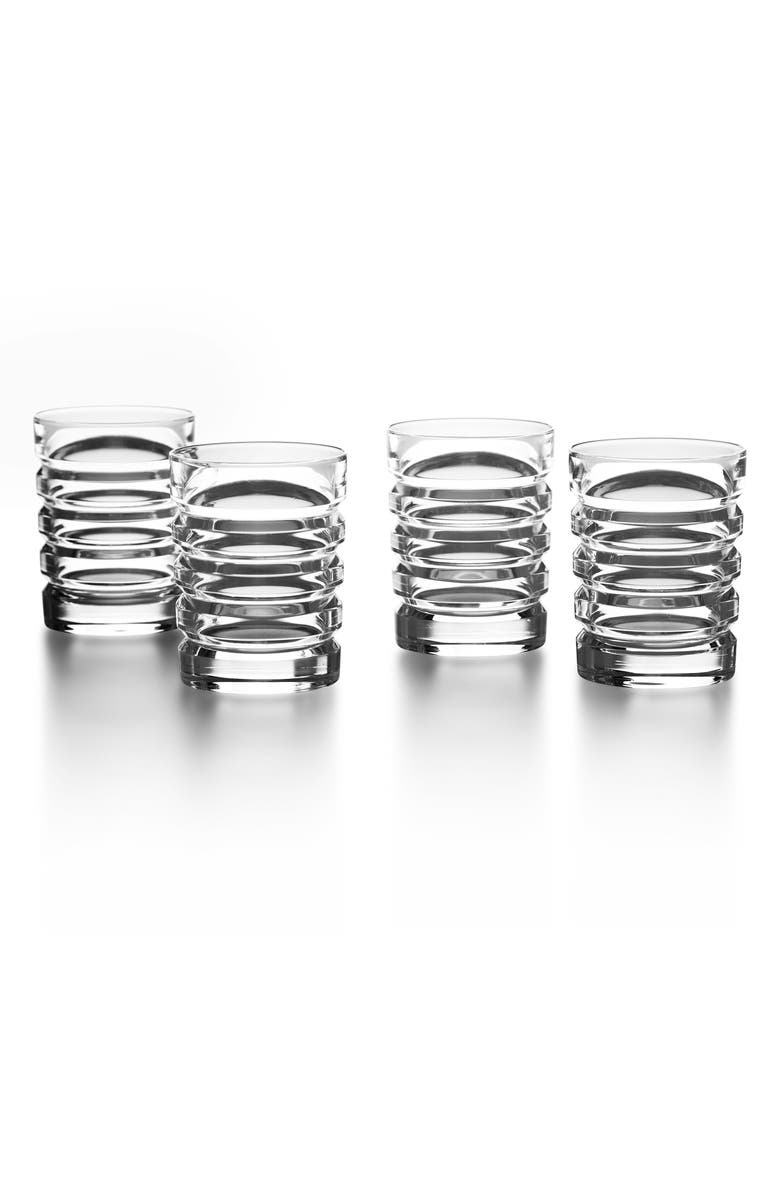 RALPH LAUREN Metropolis Set of 4 Lead Crystal Shot Glasses, Main, color, CLEAR