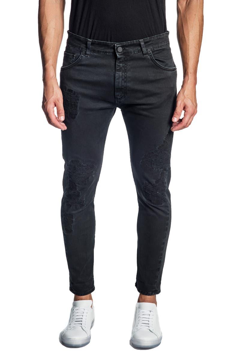 JARED LANG Skinny Jeans, Main, color, BLACK