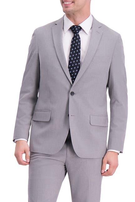 Image of Louis Raphael Sharkskin Two Button Notch Lapel Stretch Slim Fit Suit Separates Jacket
