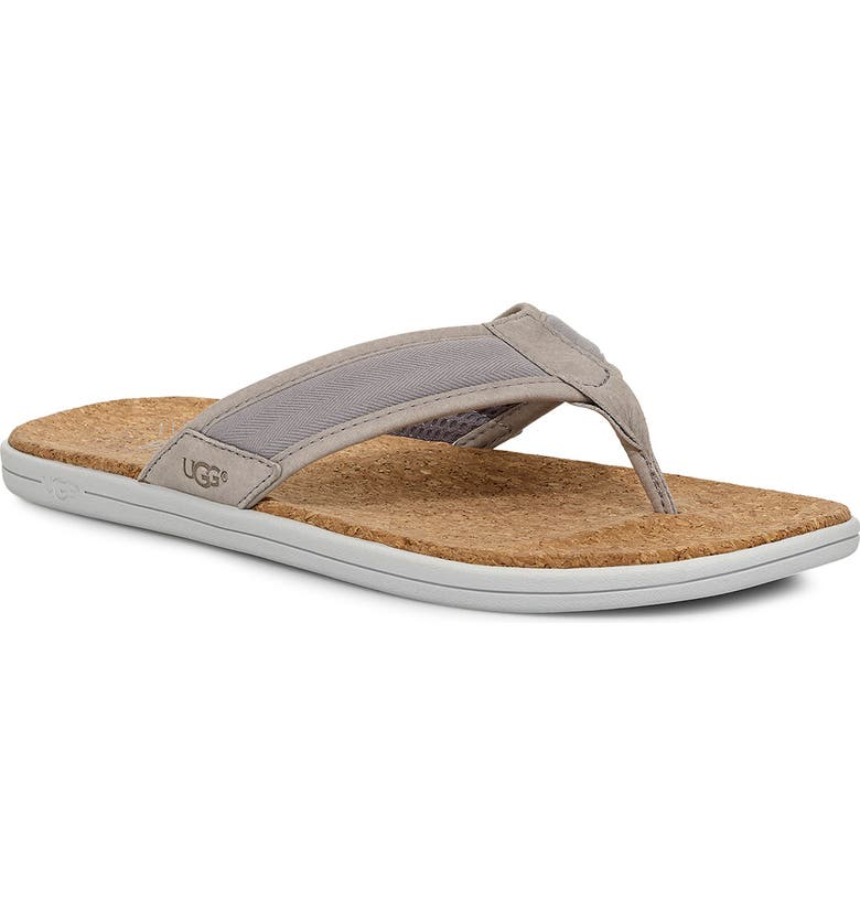 UGG<SUP>®</SUP> Seaside Flip Flop, Main, color, SEAL GREY