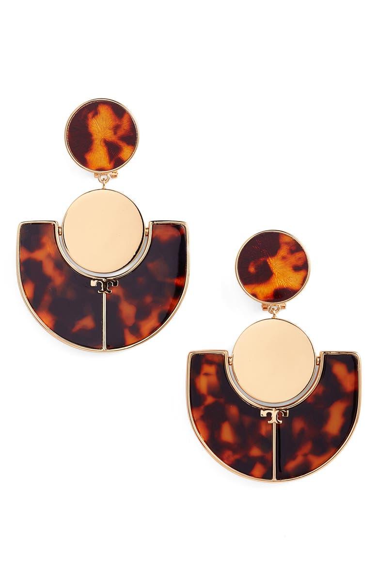 TORY BURCH Large Drop Earrings, Main, color, 200