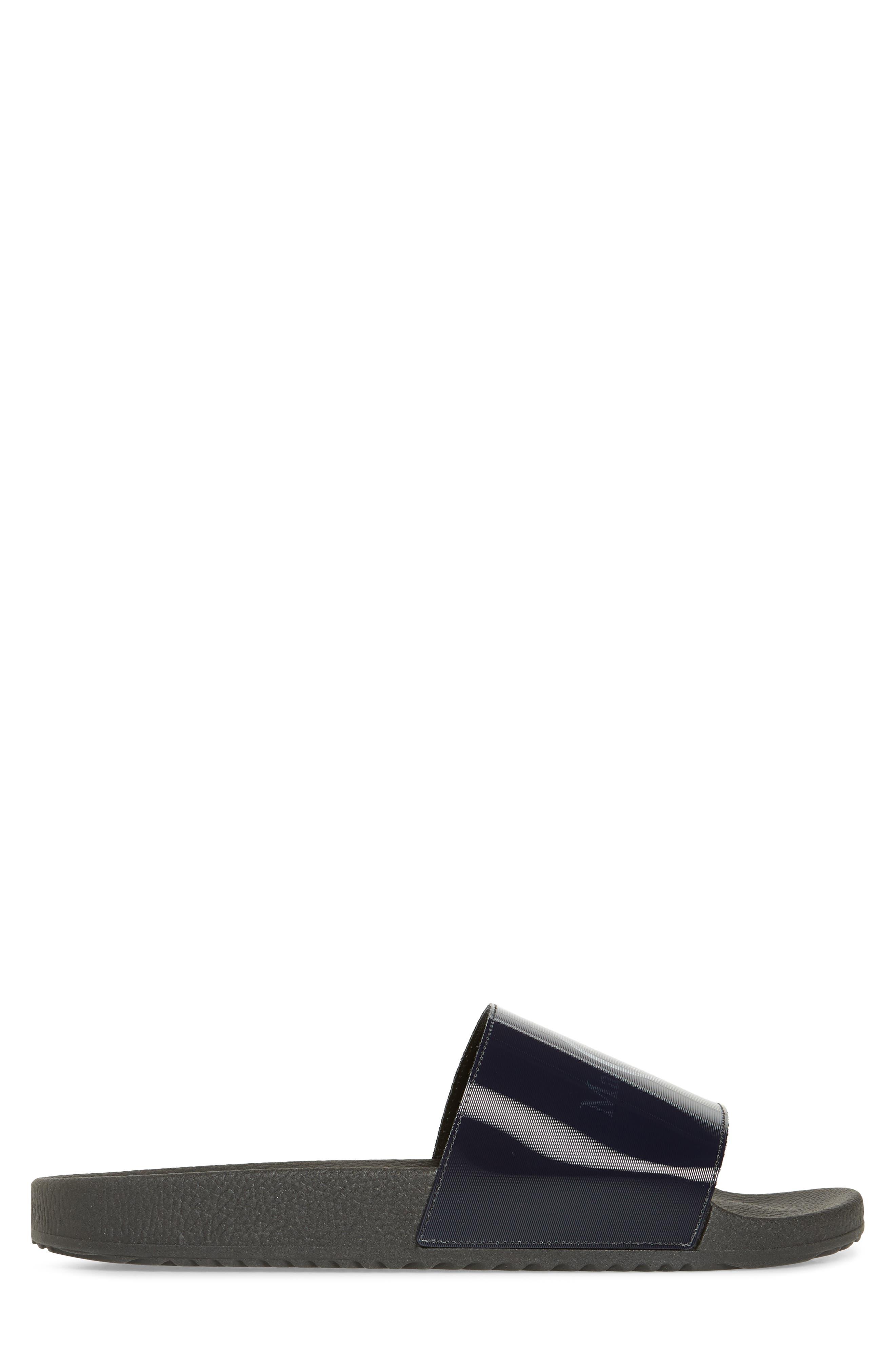,                             Pool Slide Sandal,                             Alternate thumbnail 3, color,                             BLACK/ OFF WHITE