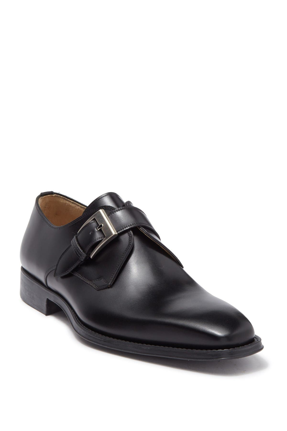 Image of Magnanni Mercury Square Toe Strap Derby - Wide Width Available