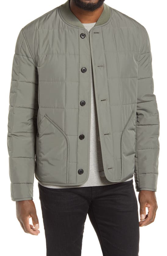 Club Monaco Castor Grey Quilted Jacket In Size L