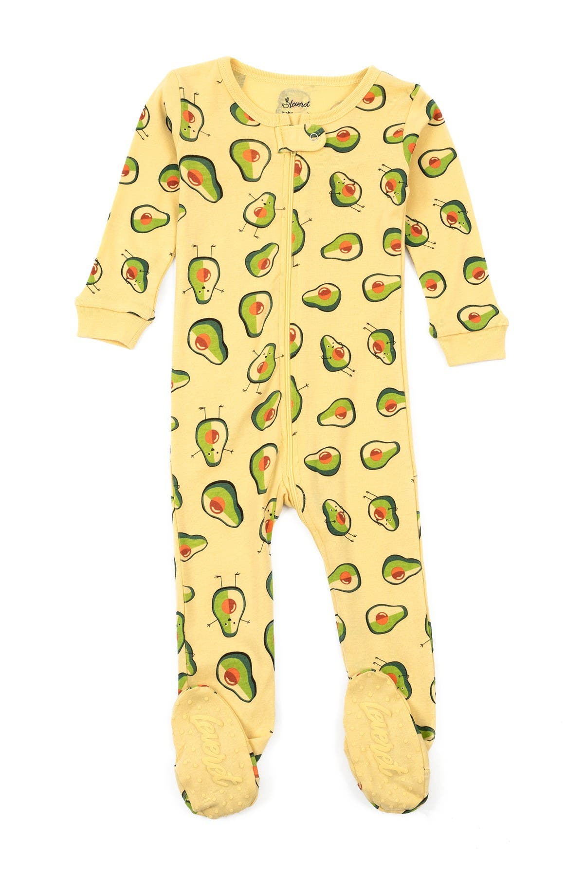 Image of Leveret Avocado Print Footed Pajamas
