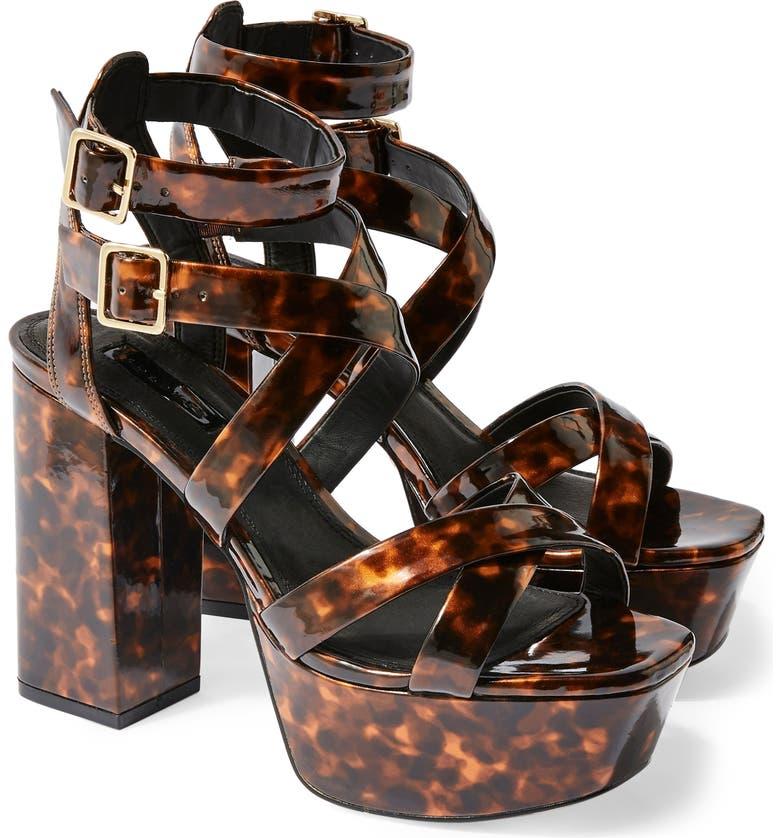Radical Strappy Platform Sandal by Topshop