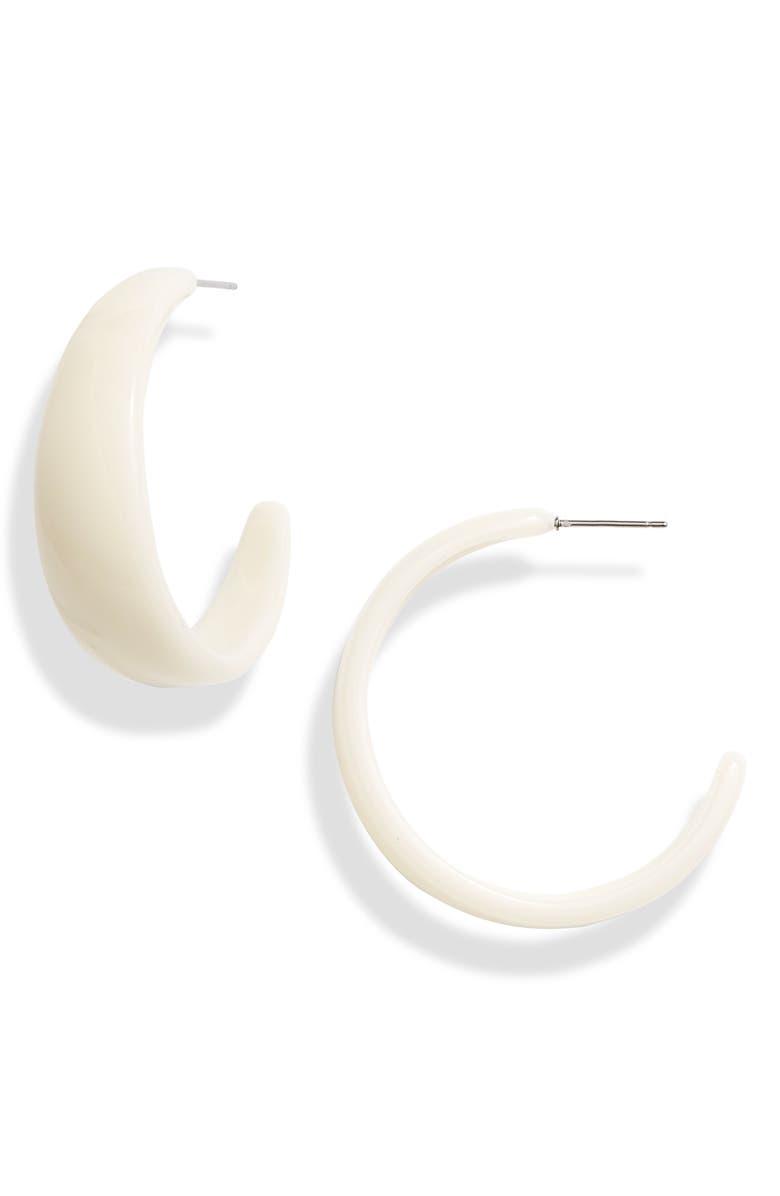 8 OTHER REASONS Angie Resin Hoop Earrings, Main, color, 250