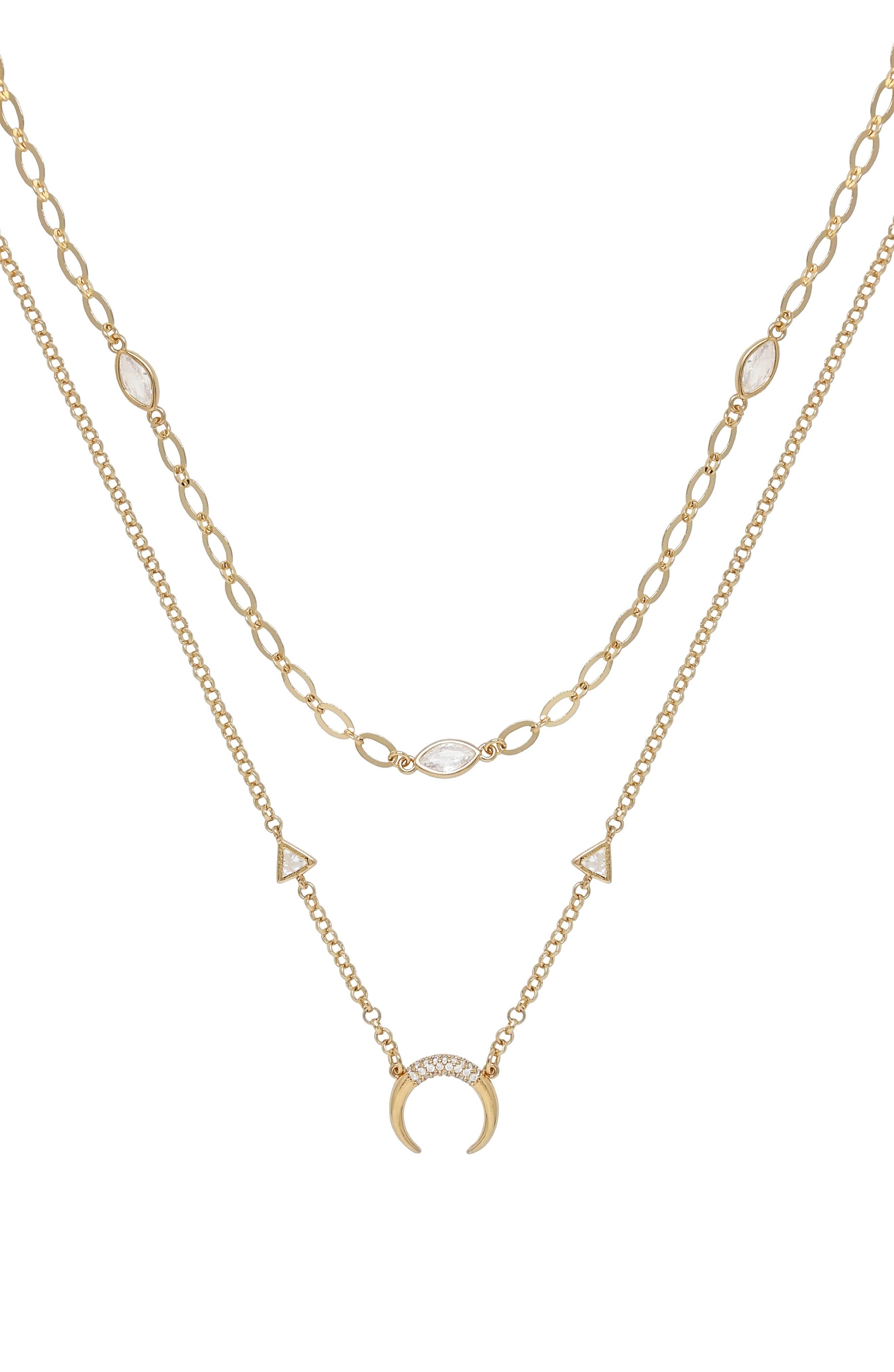 Crescent Horn Set Of 2 Necklaces