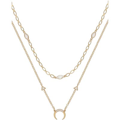 Ettika Crescent Horn Set Of 2 Necklaces