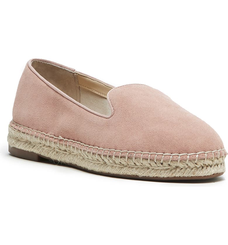 SOLE SOCIETY Sammah Espadrille Loafer, Main, color, CORAL DUST SUEDE