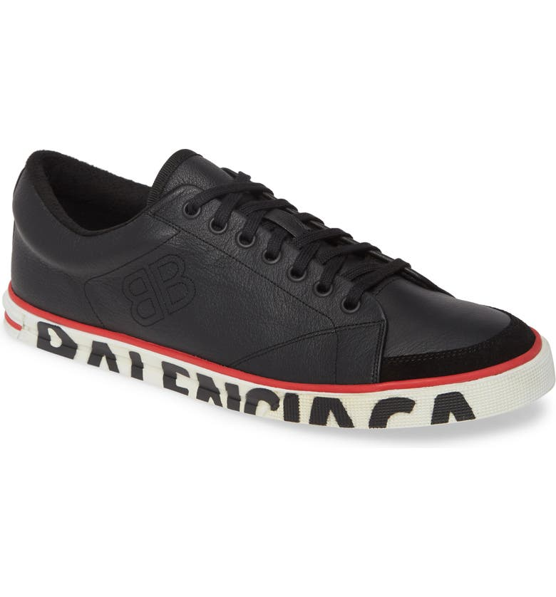 BALENCIAGA Logo Sole Sneaker, Main, color, NOIR